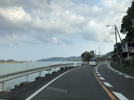 3302019 足摺岬へ(38番)四万十川河口付近 S3