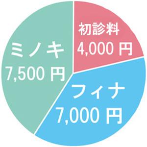 治療費が高い円グラフ