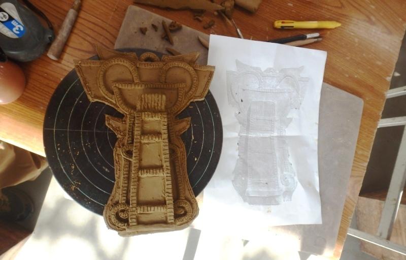 靫方埴輪花器1