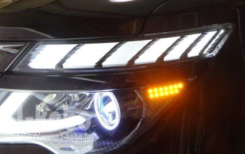 E52エルグランドヘッドライト加工3