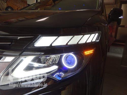 E52エルグランドヘッドライト加工4