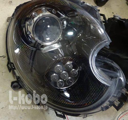 R56MINIヘッドライト加工2