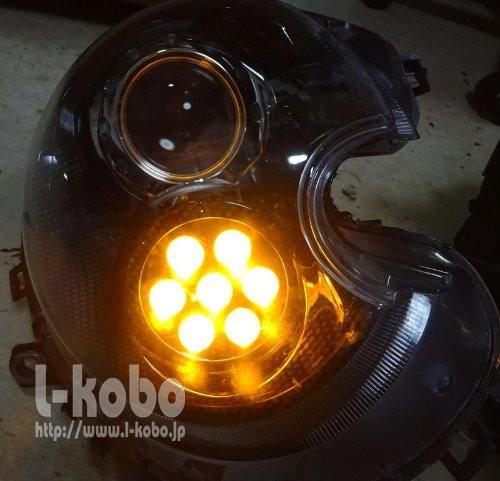 R56MINIヘッドライト加工1