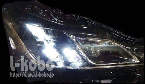 30レクサスIS後期型ヘッドライト移植