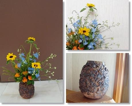 アレンジメント チョコフレーク花瓶