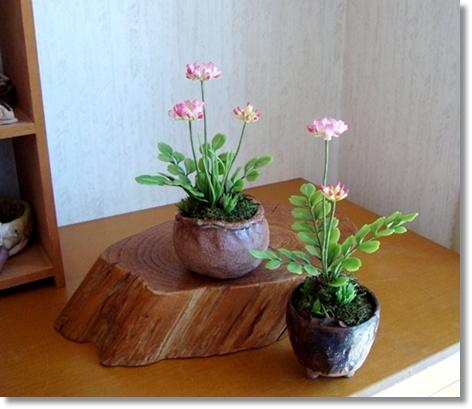 れんげ草小鉢