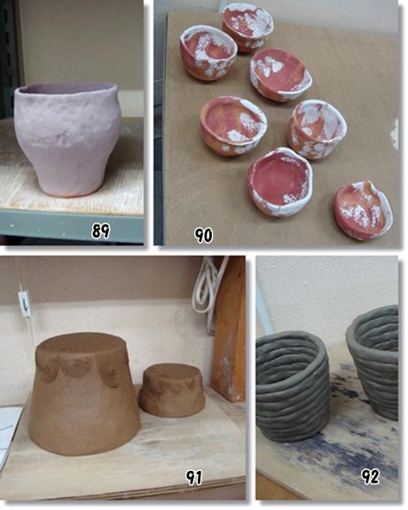 植木鉢製作中