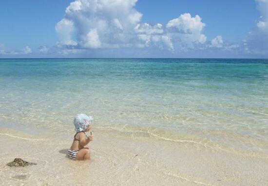 宮古島 海遊び 赤ちゃん