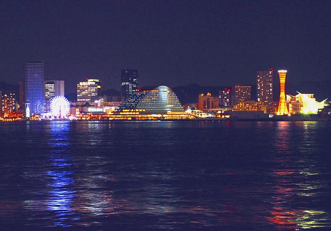 夜景 神戸港 001