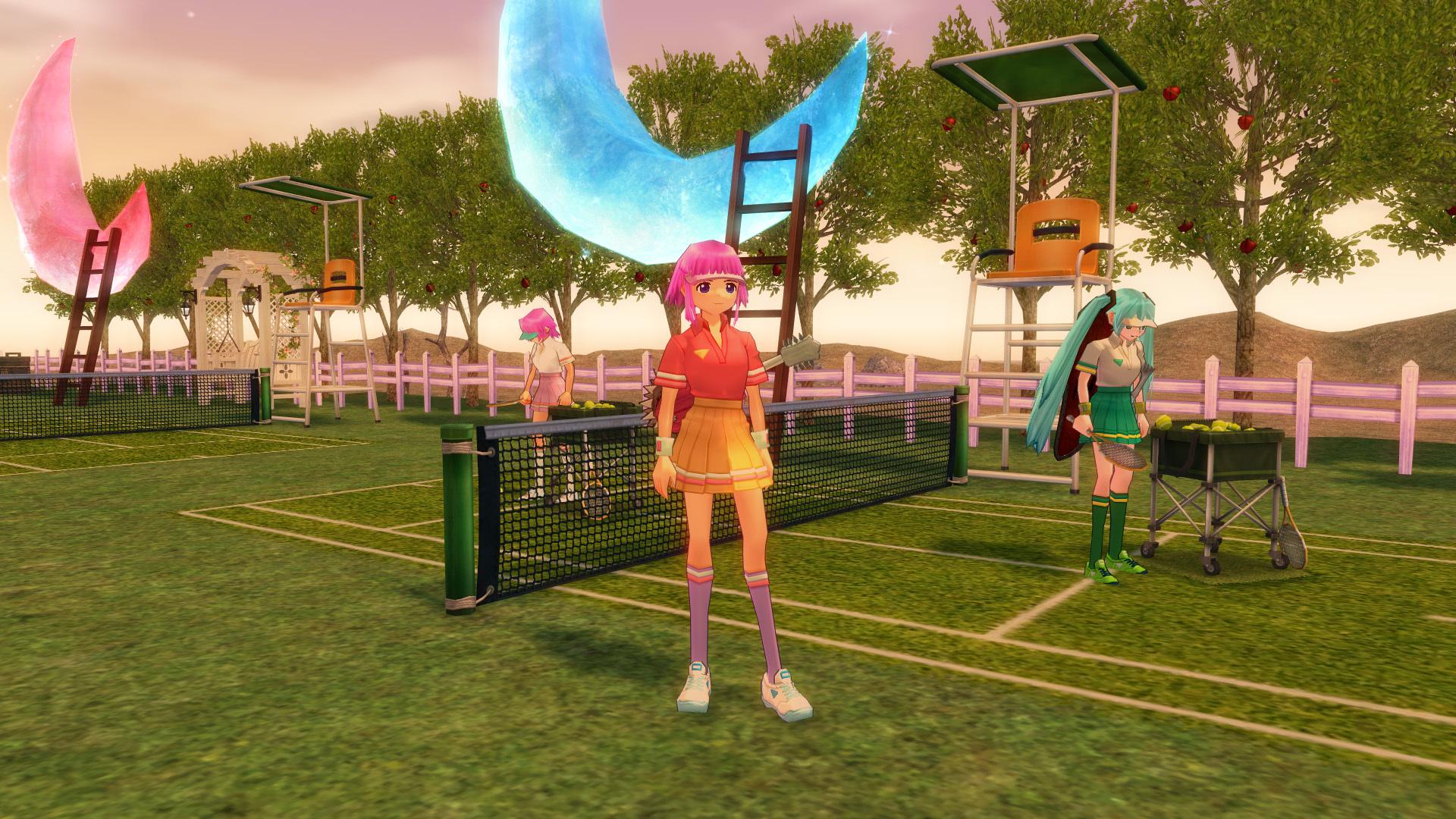 テニスコートとテニスウェア04