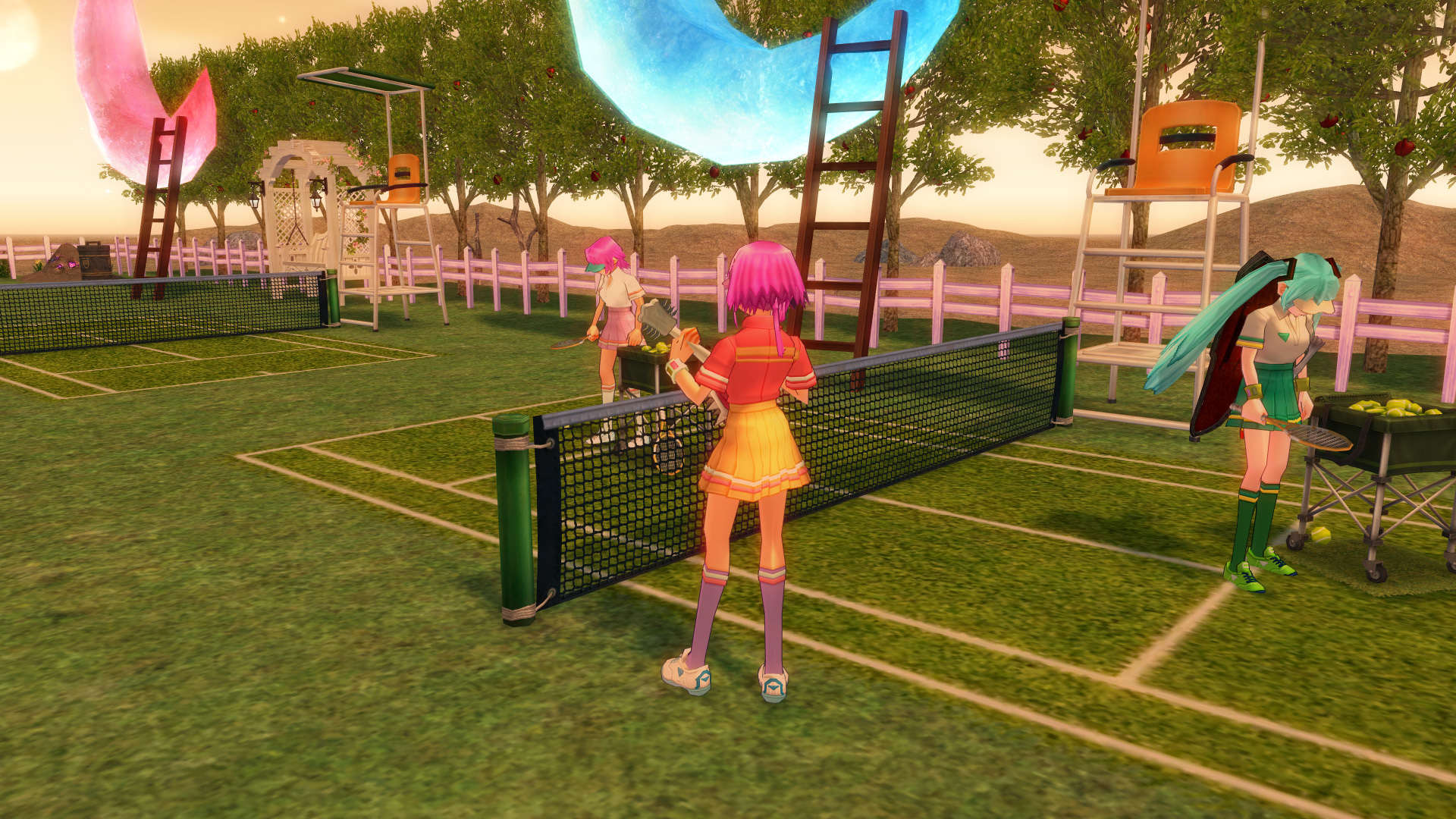 テニスコートとテニスウェア06