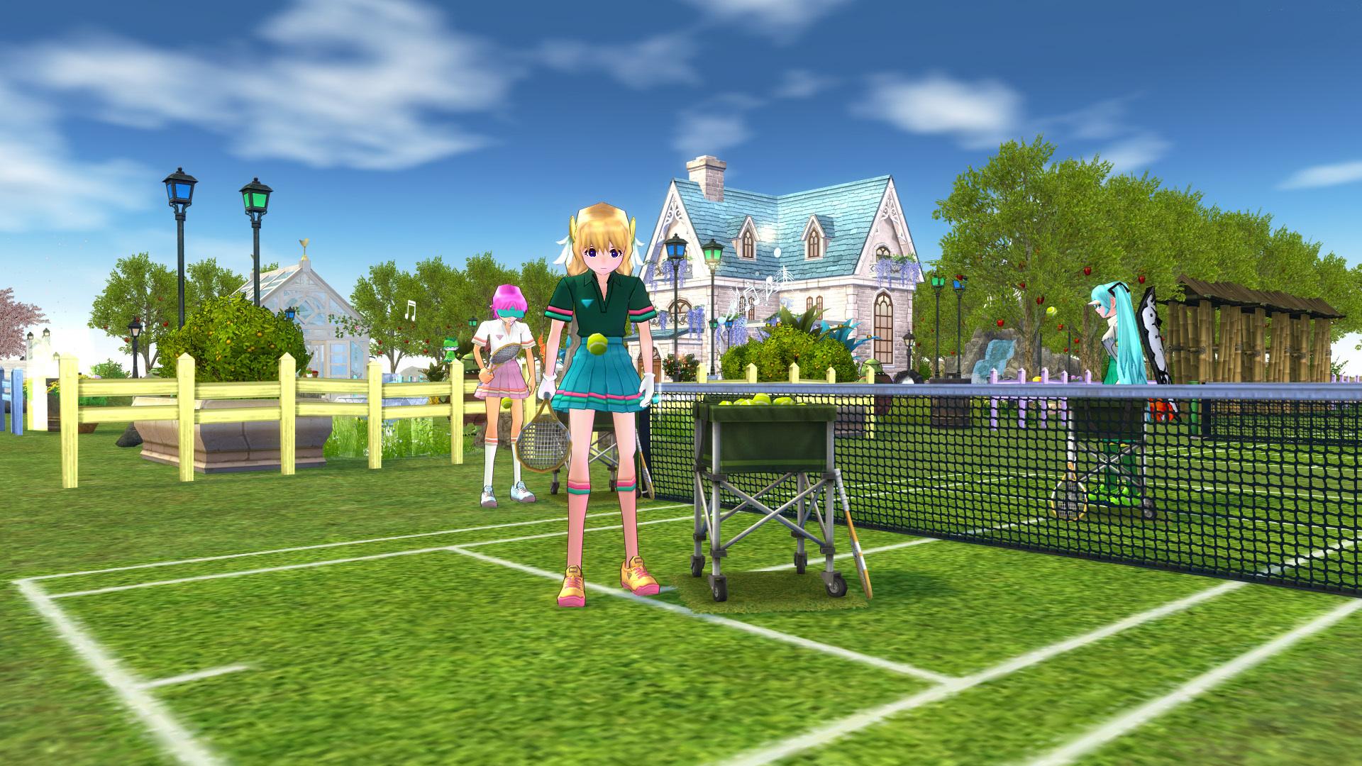 テニスコートとテニスウェア07
