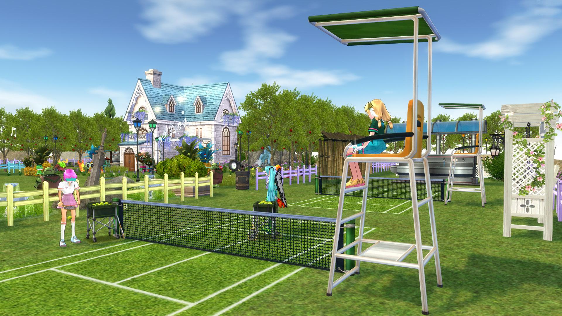 テニスコートとテニスウェア08