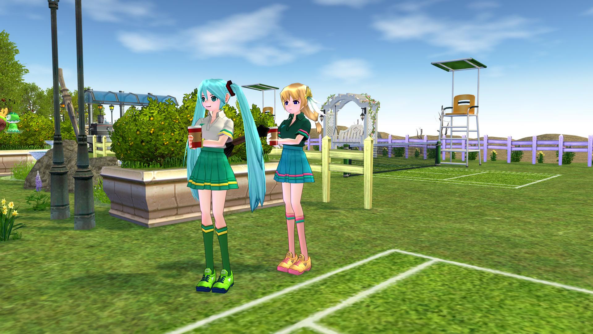 テニスコートとテニスウェア15