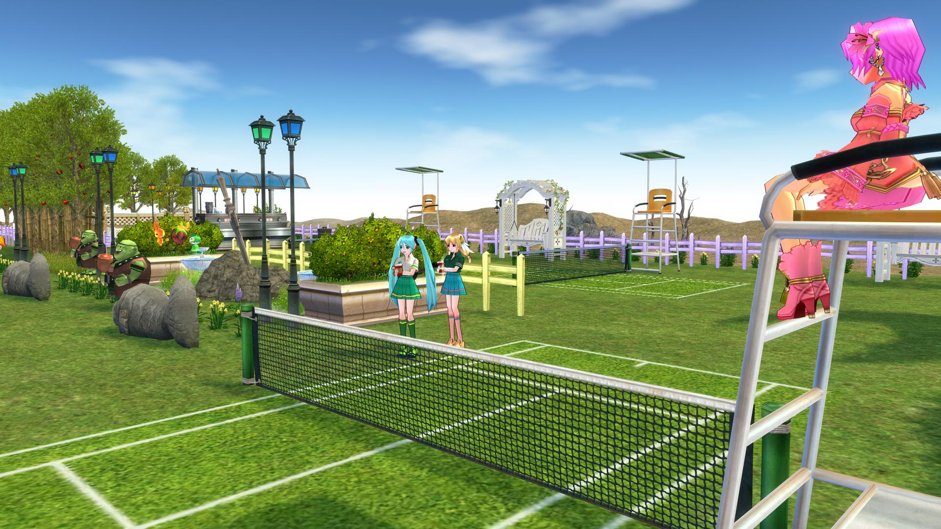 テニスコートとテニスウェア16