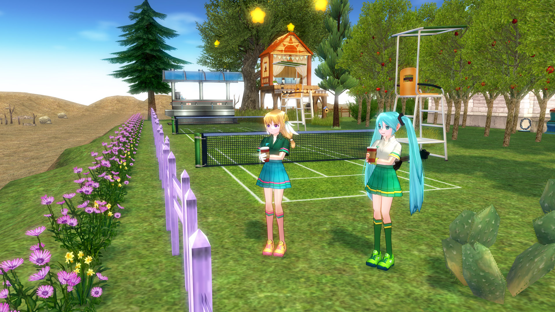 テニスコートとテニスウェア18