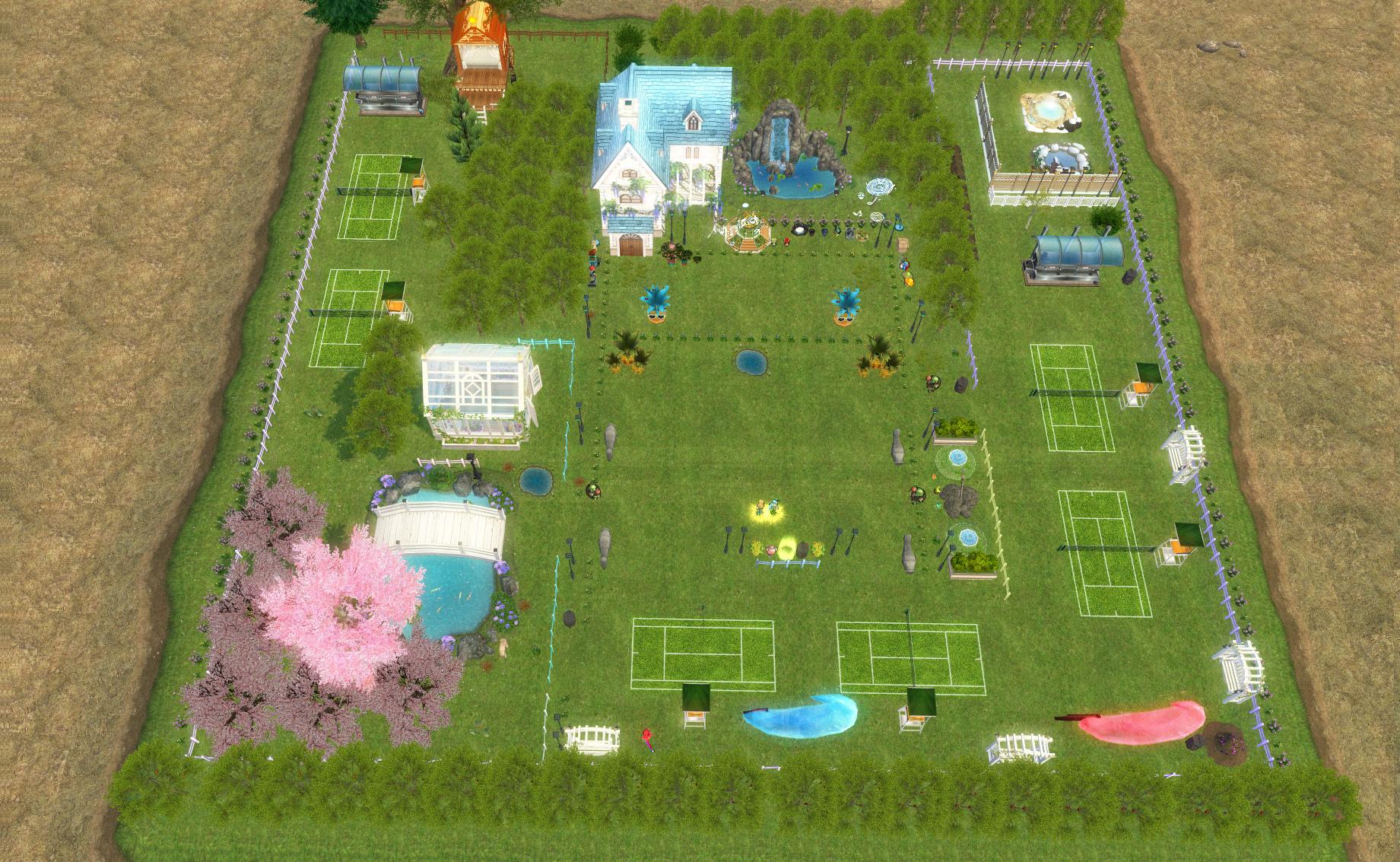 テニスコートとテニスウェア20