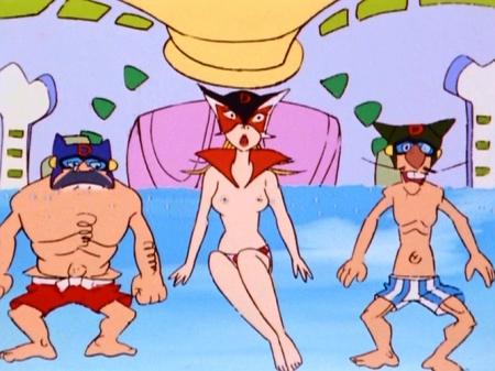 ヤッターマン1977 ドロンジョの胸裸ヌードパンツ乳首176