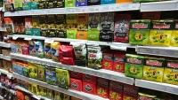 スーパーの棚のマテ茶