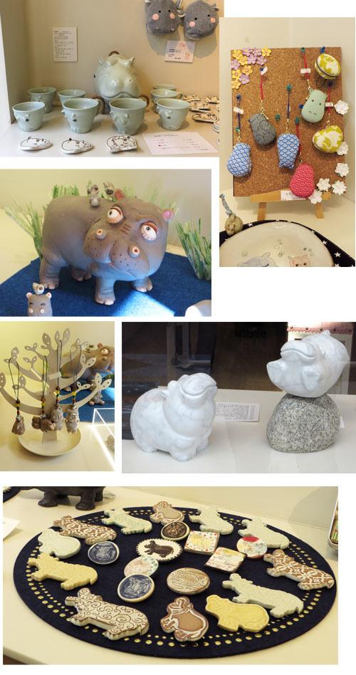 HIPPOの仲間たち立体作品