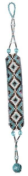 デリカビーズ織りブレス