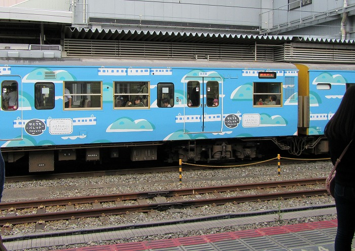 隣りの電車もステキ 岡山駅 1 5 19