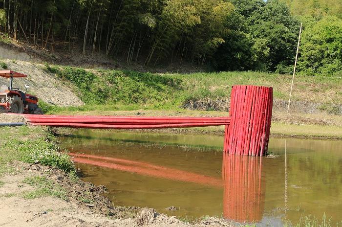 アートたんぼ 赤いトラクター 1 5 25