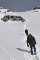 長い雪渓歩き