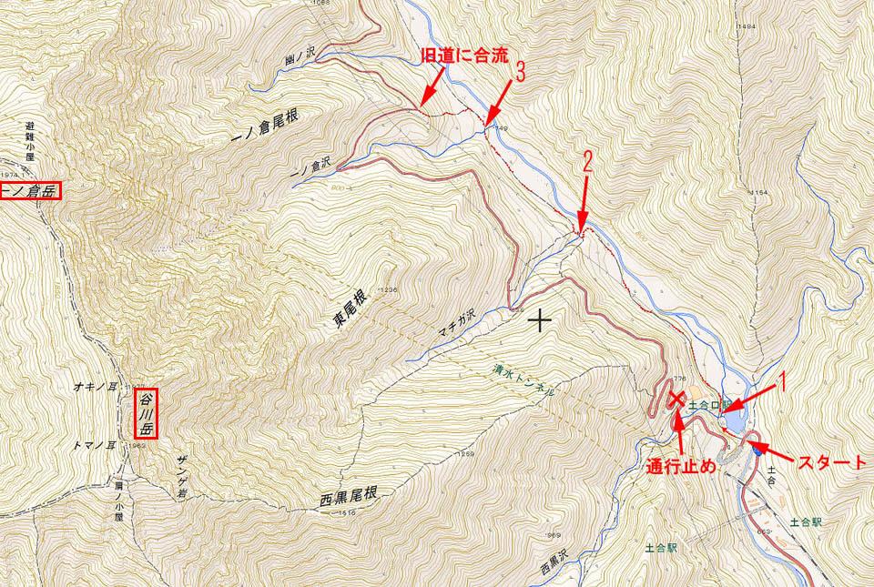 谷川トレッキング地図2 960×645