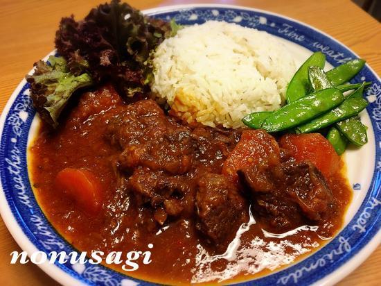 牛肉の赤ワイン煮~春野菜と共に