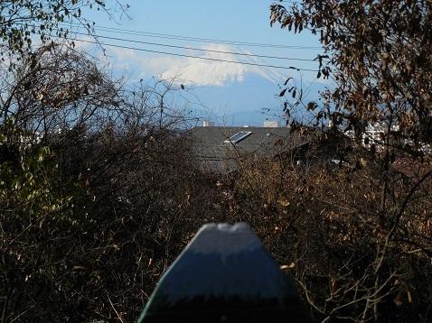 まさかりが淵市民の森の殿山広場から見た富士山@横浜市戸塚区b