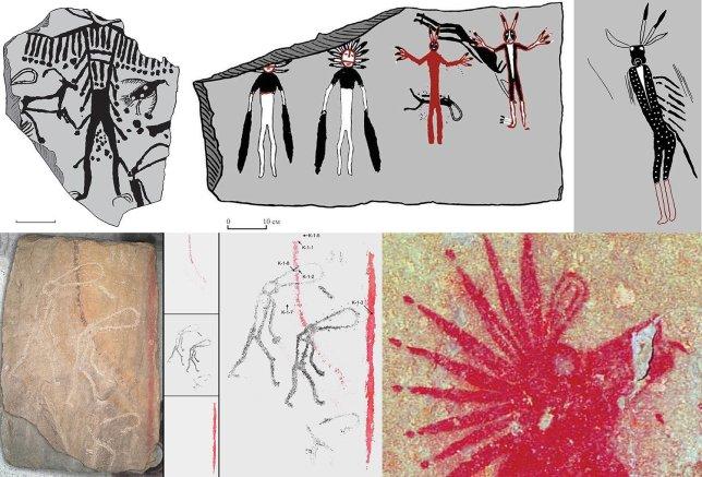 【ロシア】5000年前の古代人が「宇宙人、もしくは神」を描いたのか?不思議な人物像が描かれた壁画が見つかる
