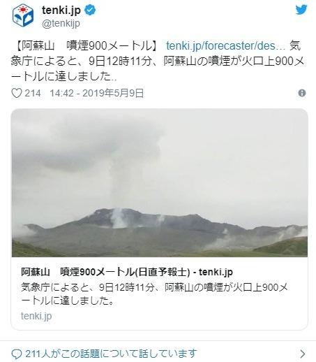 【火山噴火】福島・吾妻山で小規模な噴火のおそれあり…阿蘇山では中岳第1火口が噴火