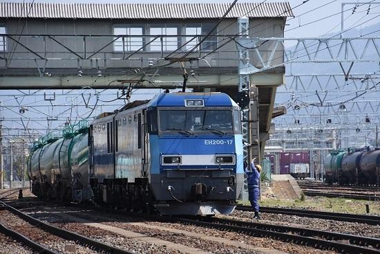 東線貨物2080レ EH200-17号機 機回し中