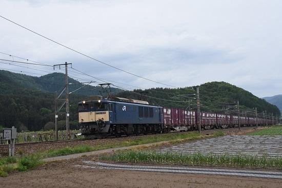 81レ EF64-1026号機 コンテナ満載