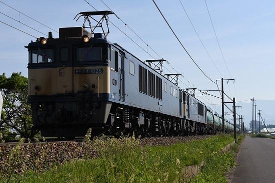 5月27日 西線貨物6088レ EF64-1026+1022号機原色重連