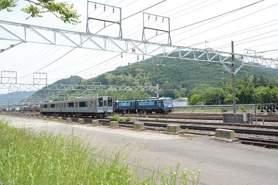 東線貨物2083レ EH200-10号機 塩尻大門入線