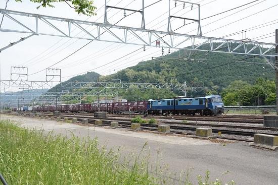 158M E127系と東線貨物2083レ EH200-10号機