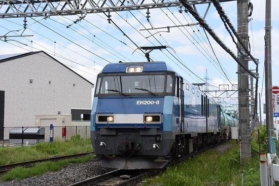 東線貨物2080レ EH200-8号機 塩尻駅進入