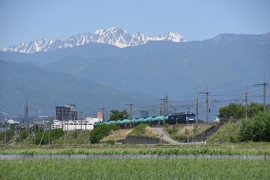 東線貨物2080レ EH200-10号機 穂高連峰バック