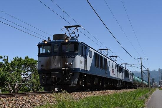 西線貨物8084レ EF64-1004+1017号機 ローアングル