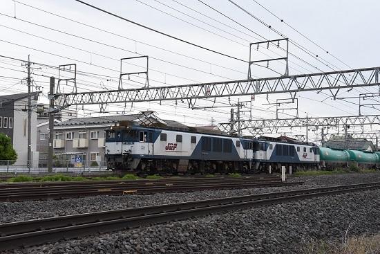 西線貨物8084レ 塩尻駅進入にて後方確認