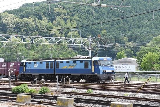 東線貨物2083レ EH200-10号機 運転士交替