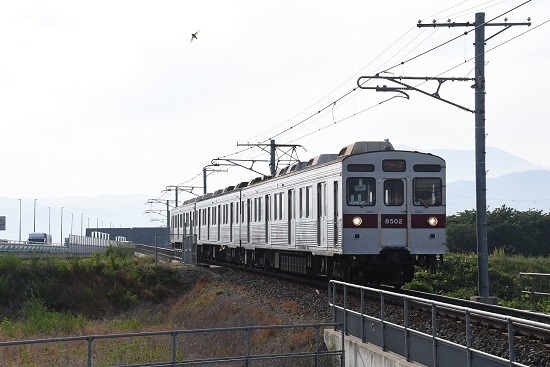 長野電鉄 8500系 T2編成 村山橋