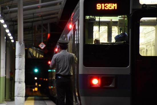 9135M 211系小野駅にて車掌さんと