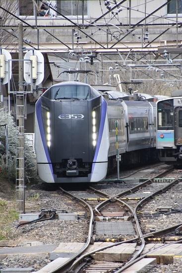 26M E353系「あずさ26号」南小谷駅発車