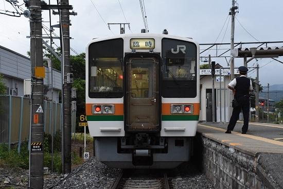 伊那新町駅にて213系 辰野ほたる祭り号