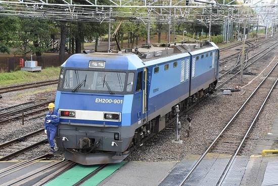 東線貨物2080レ EH200-901号機 機回し その2