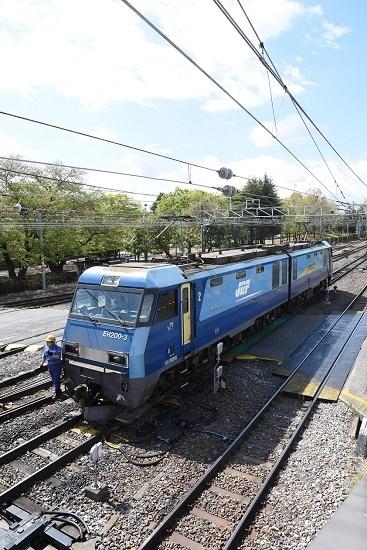 東線貨物2080レ EH200-3号機 機回し中