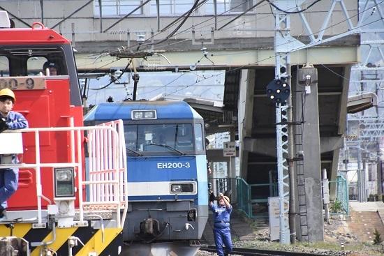 東線貨物2080レ EH200-3号機 無線機返却